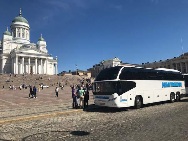 hartmann cityliner reisebus in helsinki