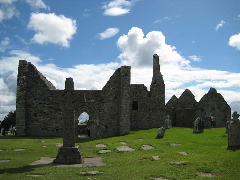 irland ruine von einer kirche